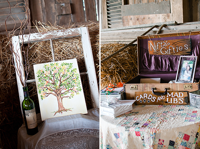 rustic vintage diy details at dayton, ohio wedding
