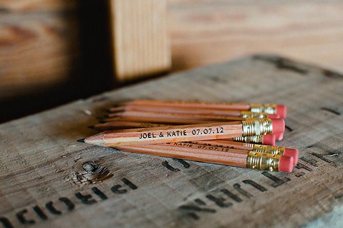 personalized pencils as wedding favors