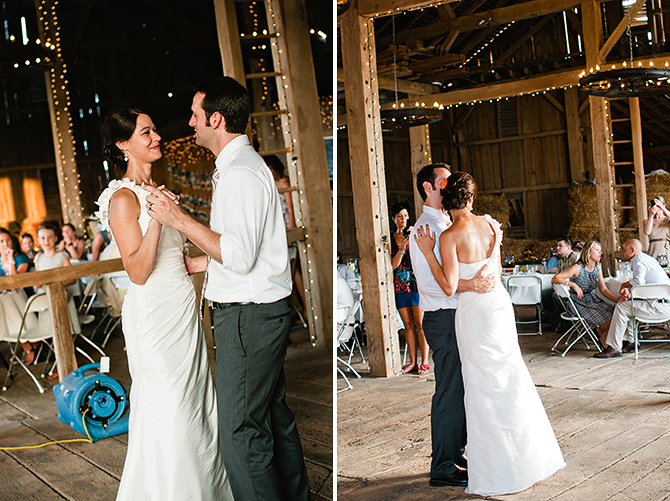 springfield, ohio barn wedding first dance photographer