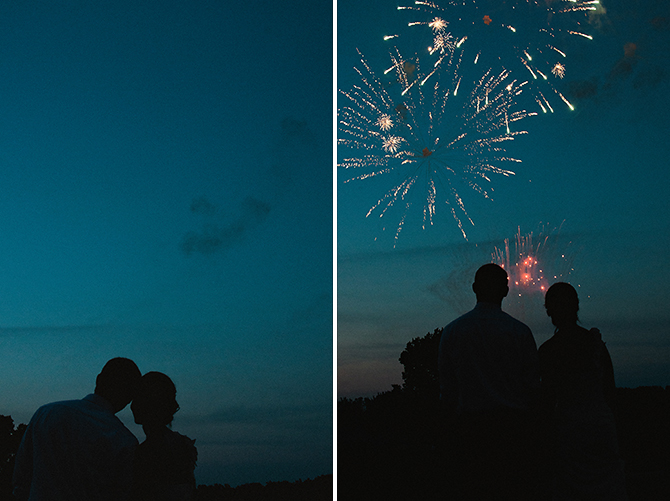 dayton ohio wedding photography couple with fireworks