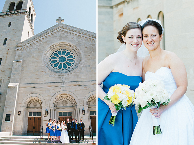 catholic church wedding photography in cleveland