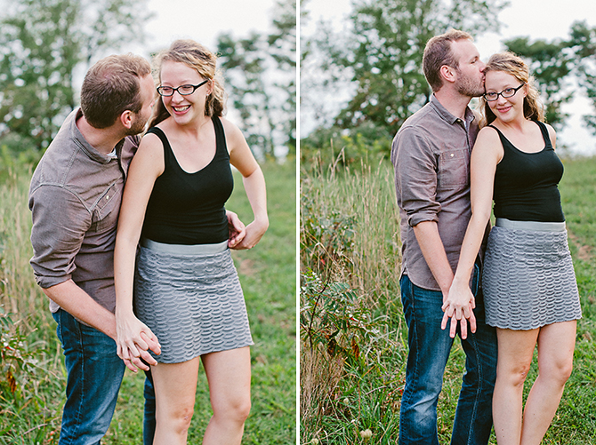 happy relaxed engagement photos