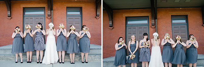 causal bridal party portraits