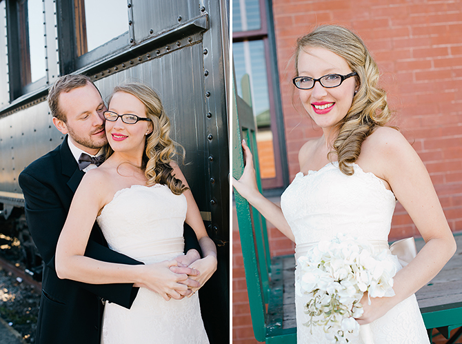 wedding photography portraits at amtrak station
