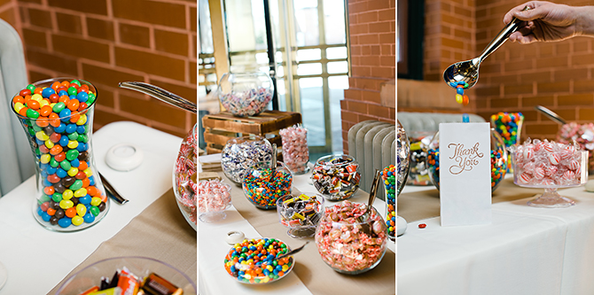 diy wedding candy bar