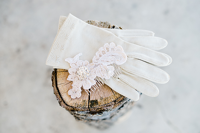 bridal gloves at north carolina wedding