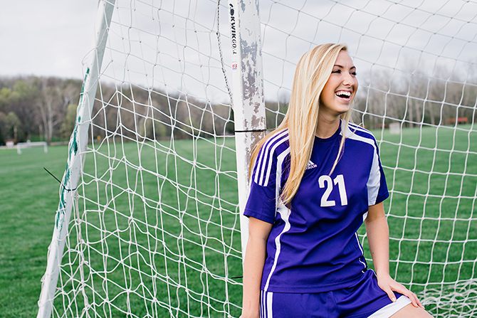 bellbrook ohio senior soccer portrait