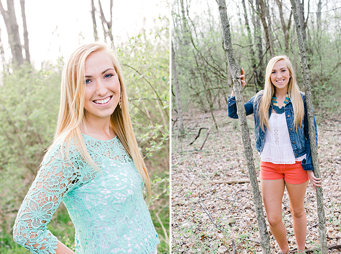 senior photos in woods in dayton ohio