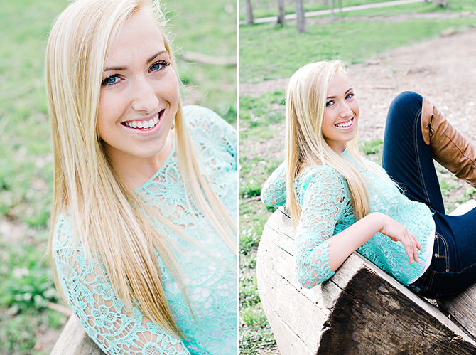 girl smiling in senior pictures in dayton ohio