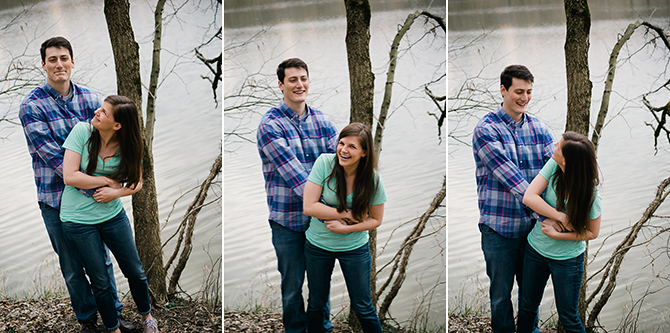 fun relaxed engagement photos