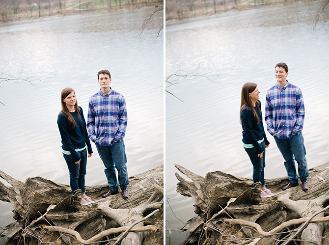 lakeside engagement photos