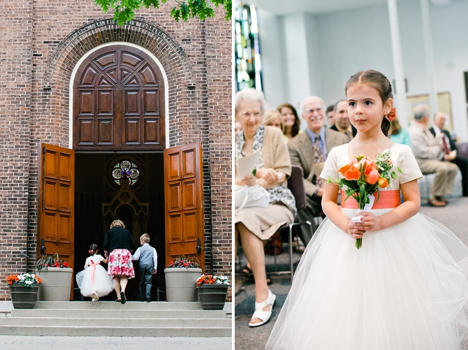 flower girl and ring bearer at university of dayton chapel wedding