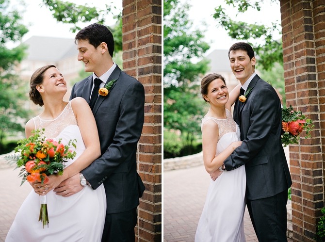 wedding pictures on university of dayton campus