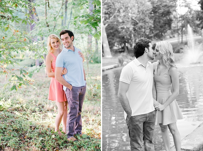casual engagement photos in oxford ohio