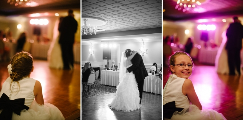 daughter watching her parents first dance