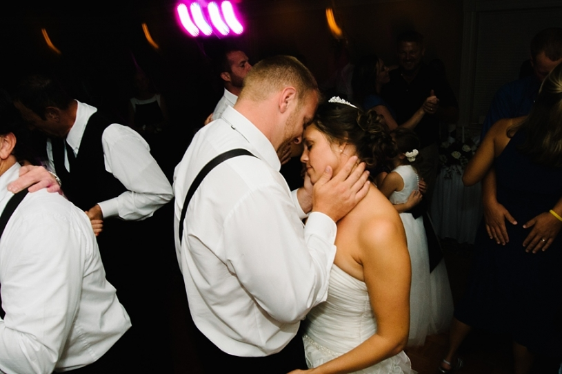 bride and groom dancing at their wedding reception at presidential in dayton ohio