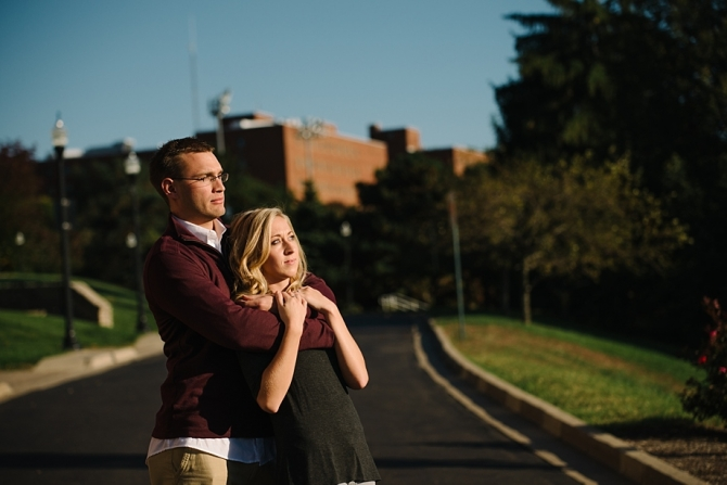 engagement photos at university of dayton
