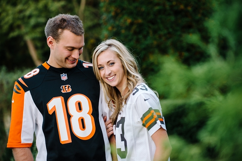 dayton engagement photos with jerseys