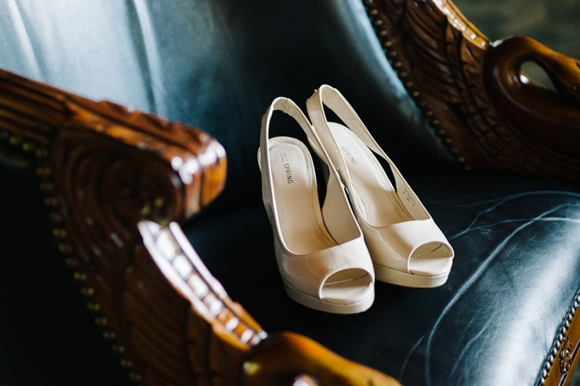 wedding shoes at lake lyndsay