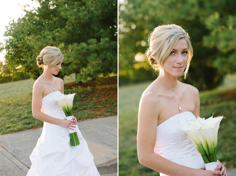 portraits of bride at lake lyndsay wedding reception