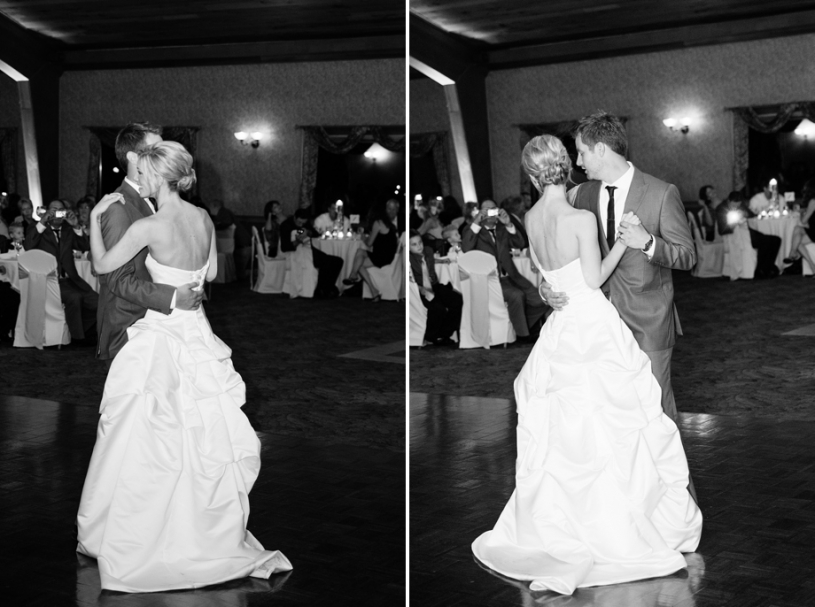 bride and groom first dance at lake lyndsay