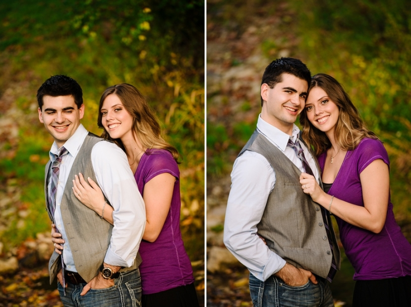 outdoor fall engagement photography