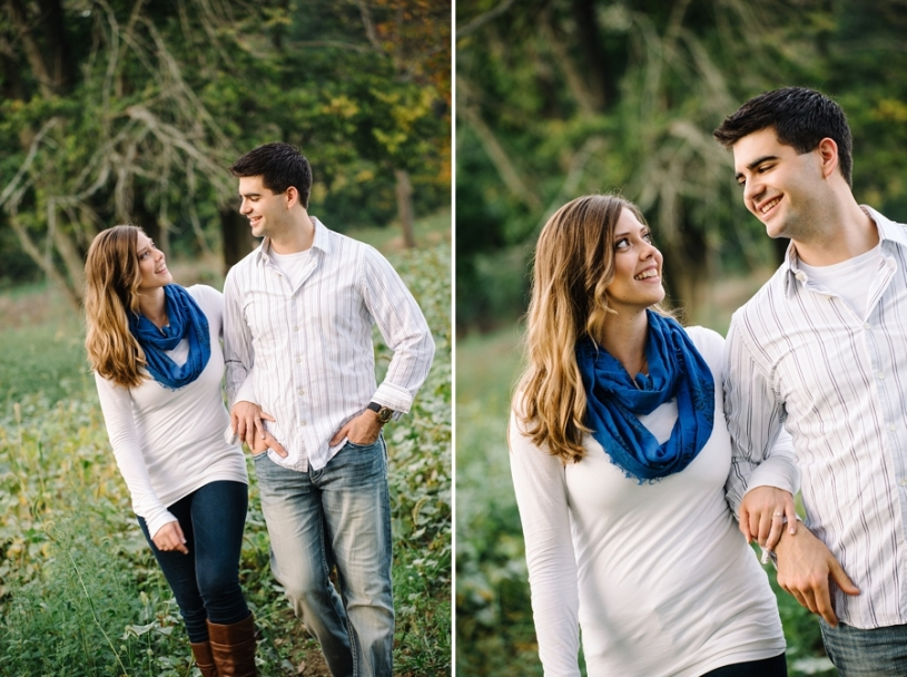 outdoor relaxed engagement photos