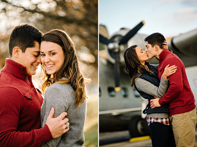 dayton air force museum engagement photography