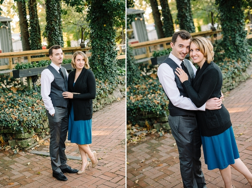 engagement photos in downtown yellow springs