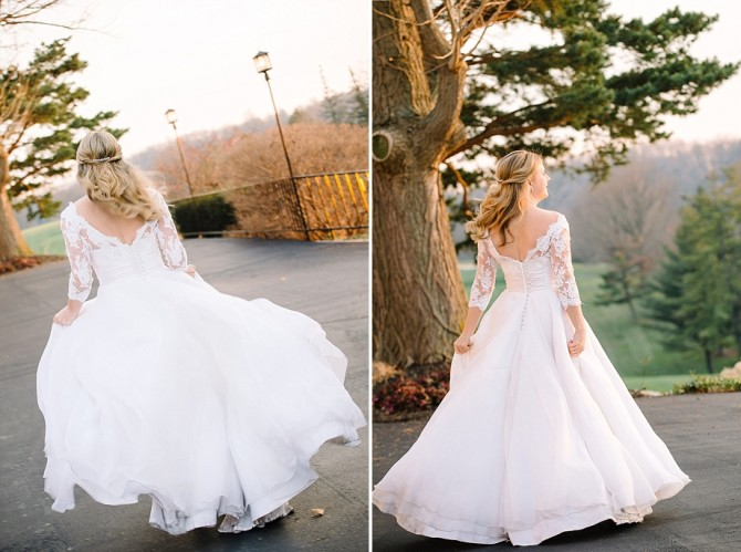 bridal portraits at dayton country club