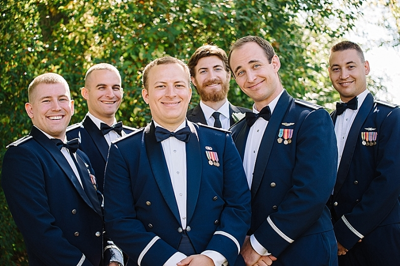 air force wedding bridal party