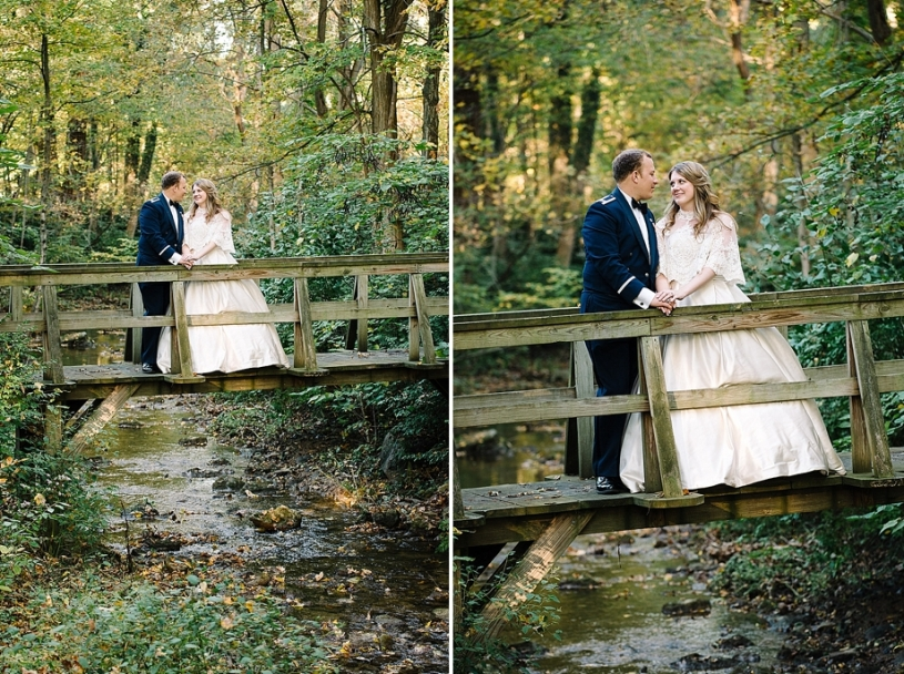 woodsy natural wedding pictures in dayton ohio