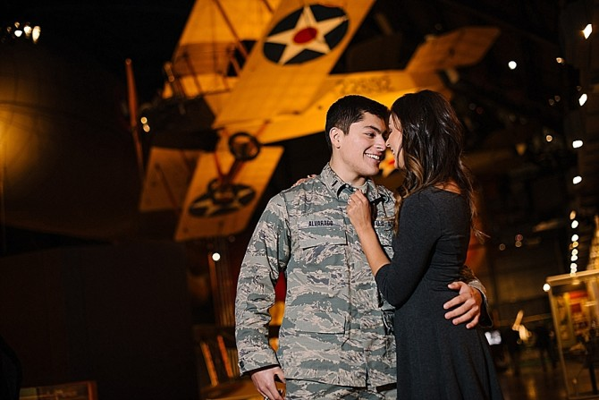engagement photos at air force museum dayton ohio