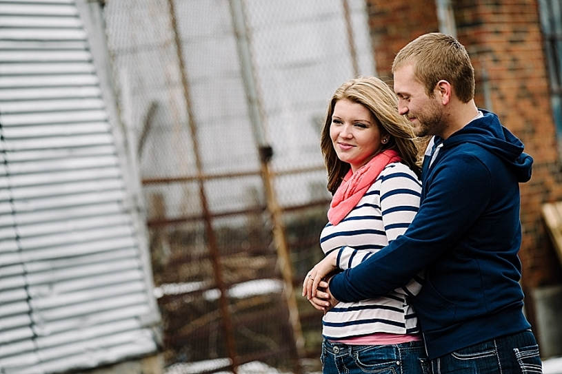 downtown dayton engagement pictures