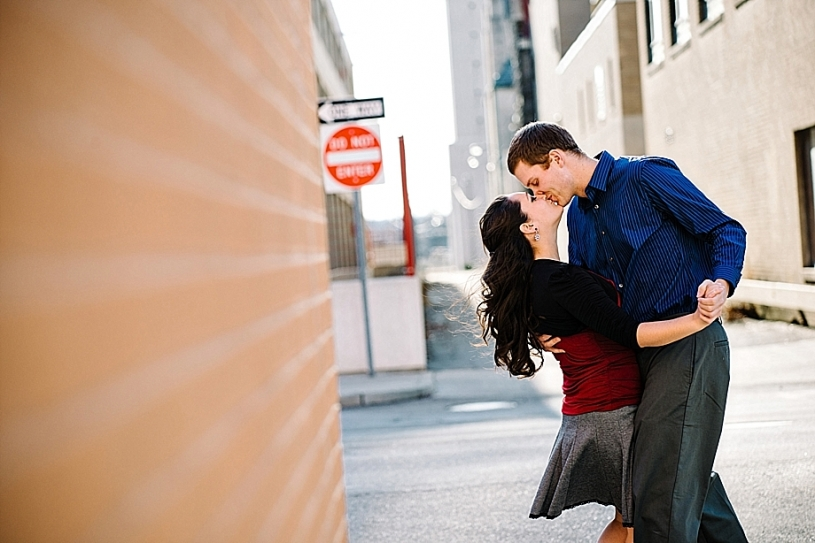 engagement portraits in downtown dayton