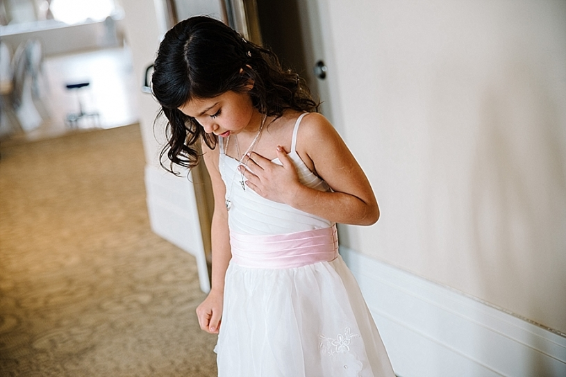 flower girl at pinacle golf club