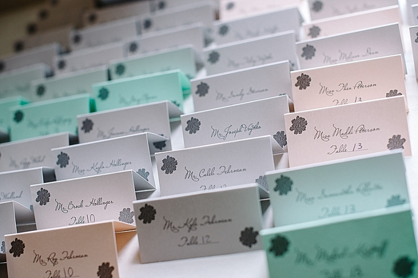 place cards at pinnacle golf club columbus ohio