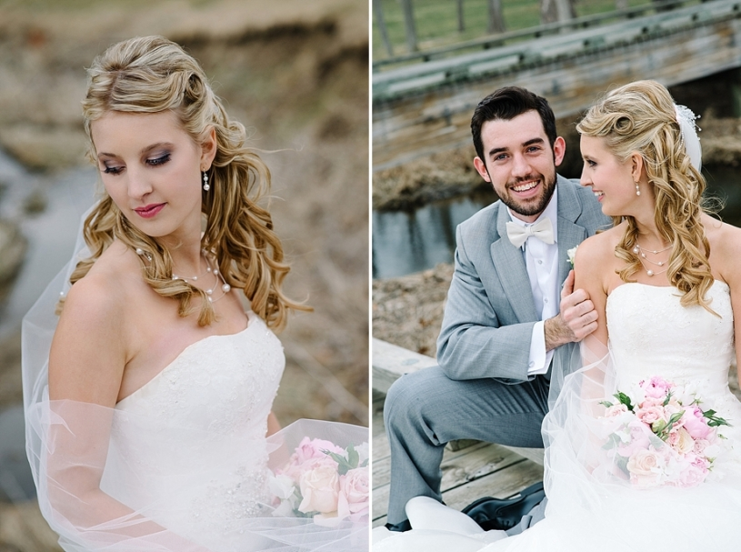bride and groom portraits at pinnacle golf club