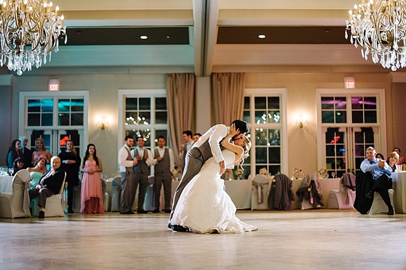 bride and groom first dance at pinnacle golf club columbus ohio