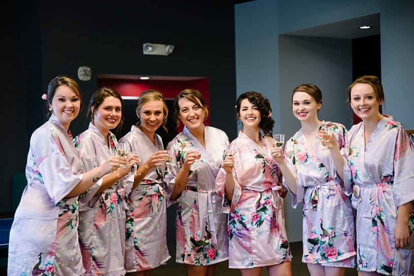bridesmaids matching robes