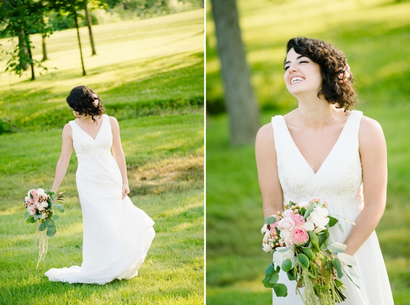 happy bride laughing dayton ohio